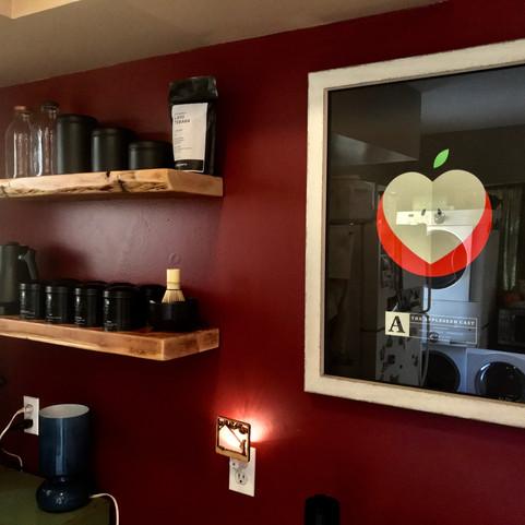 handmade bar shelves
