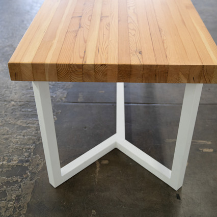 rustic butcher block dining table
