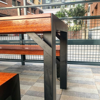 modern outdoor dining table made in los angeles