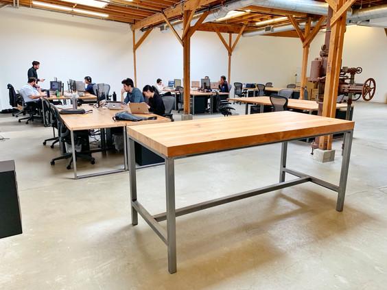 butcher block office desks