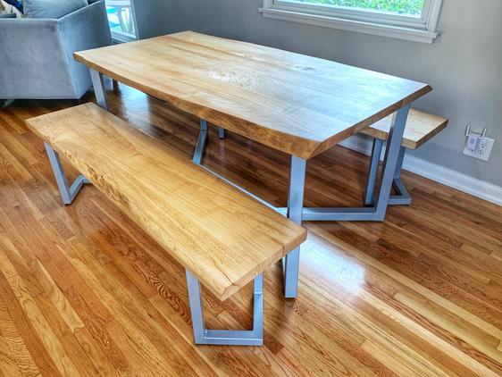 mid century modern custom dining set