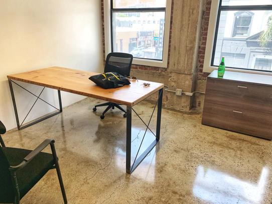 light wood office desks
