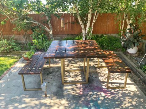 outdoor dining table dark color