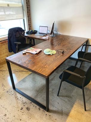 custom l shaped computer desks
