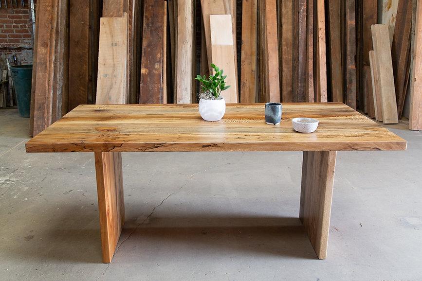 hardwood farmhouse dining table monrovia