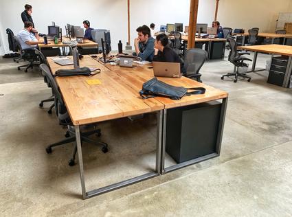 reclaimed wood computer desks