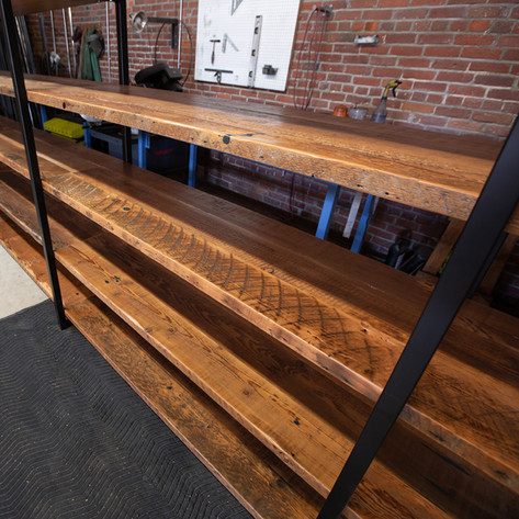large custom shelving unit made in los angeles