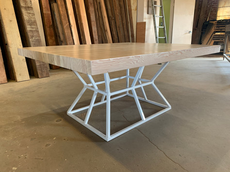 banquette wood pedestal table los angele