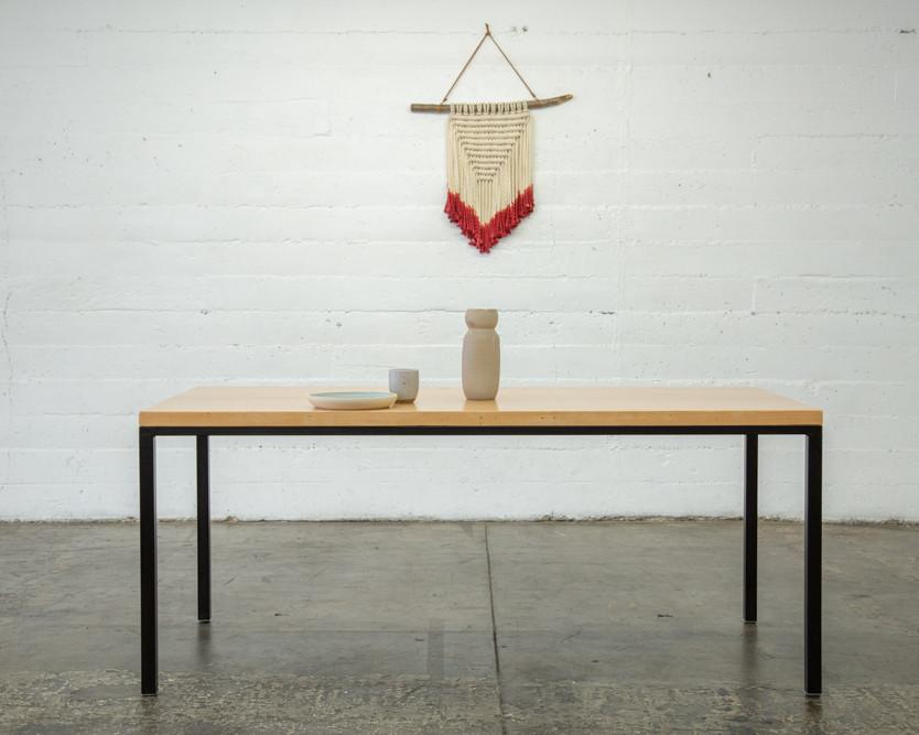 handmade solid wood dining set