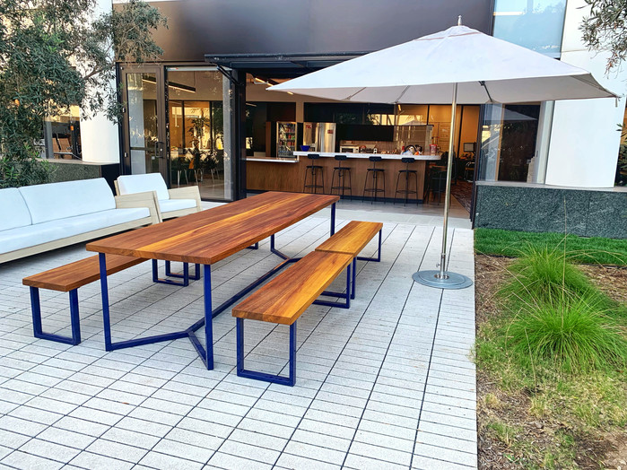 outdoor office table exotic wood