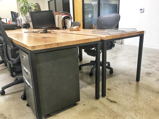 7' long computer desks