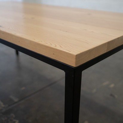 real wood modern dining table
