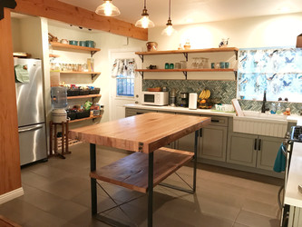 custom made butcher block kitchen island