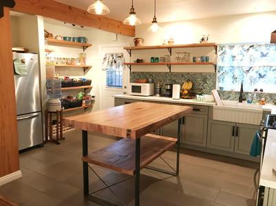 custom made butcher block kitchen island