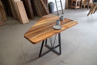 custom wood banquette table