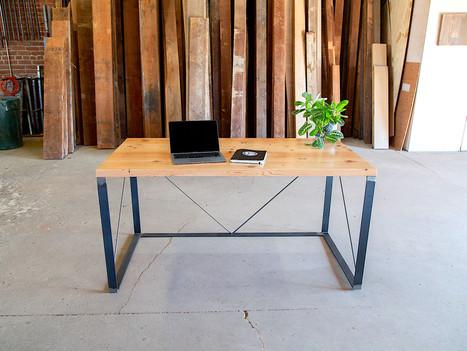 """The Faze"" Reclaimed Wood Computer Desk - $1250"