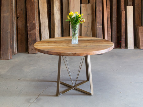 Round Sycamore Pedestal Dining Table - $2850