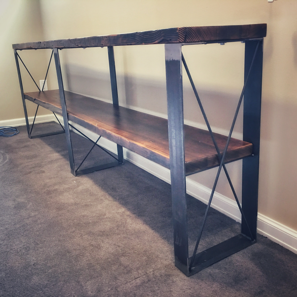 custom made console side table