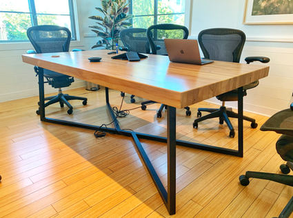 large reclaimed wood conference tables