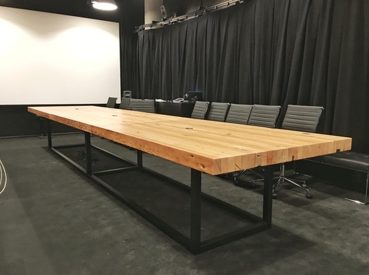 butcher block office confernce table