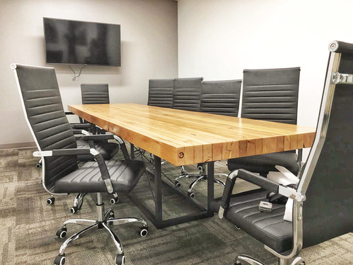 solid butcher block conference table