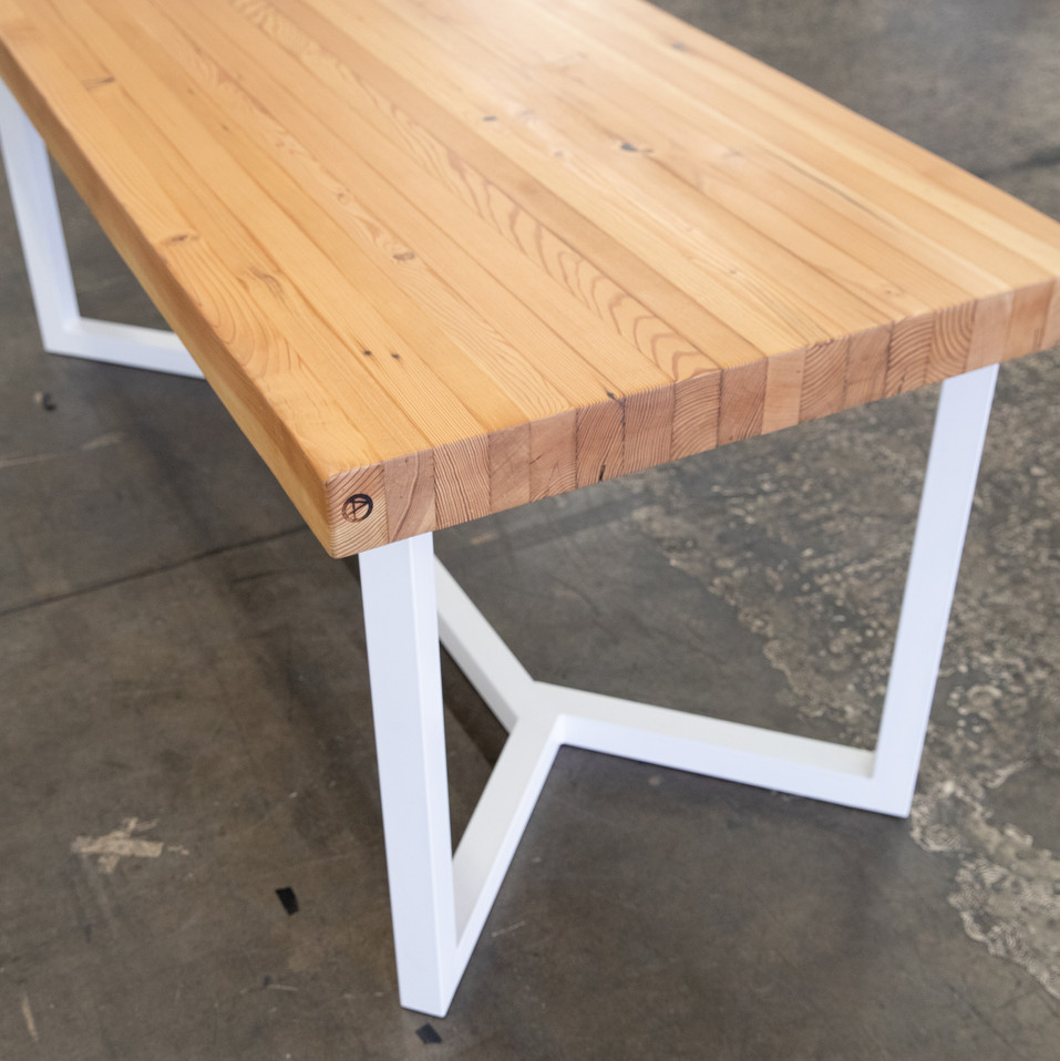 modern butcher block kitchen table