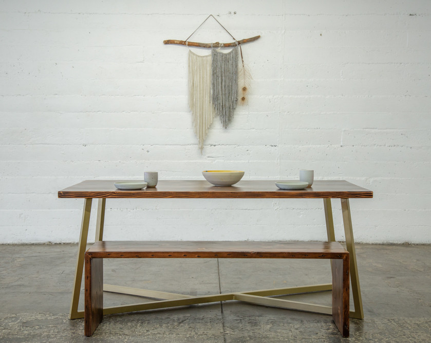 modern dining set made in los angeles