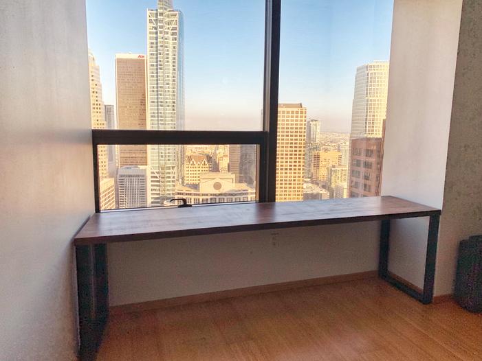 custom siae walnut computer desk