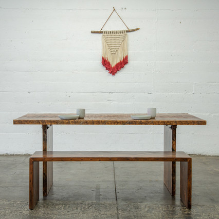 modern wood farmhouse dining set