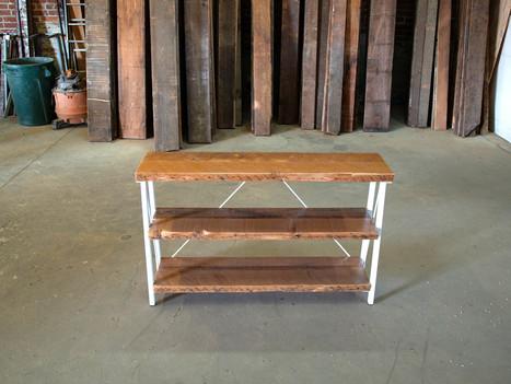 Reclaimed Wood & Steel Entryway Bookshelf - $1500