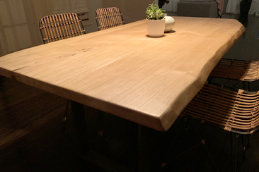 wood dining table made in los angeles