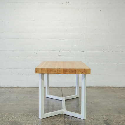 butcher block table mid century