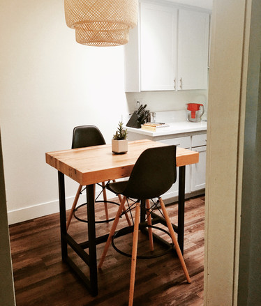 bar height solid wood table