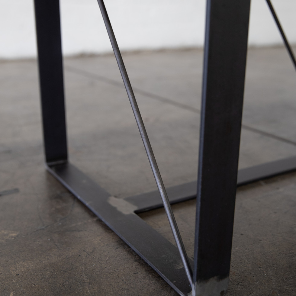 custom wood modern steel table legs