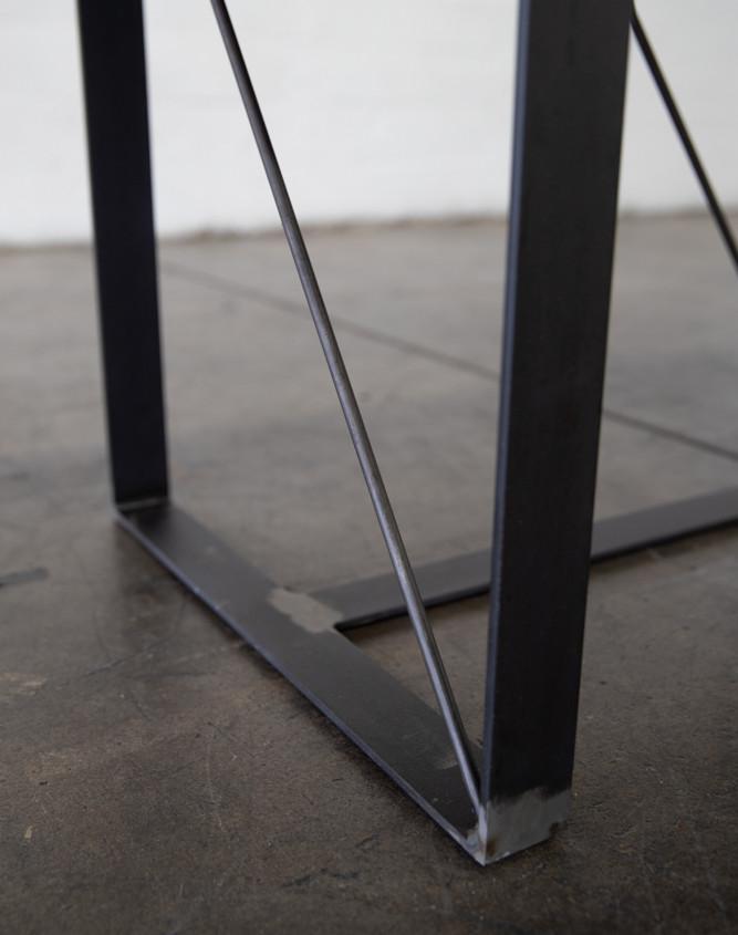 custom wood modern steel table