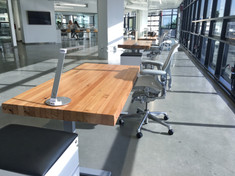 butcher block rising desk