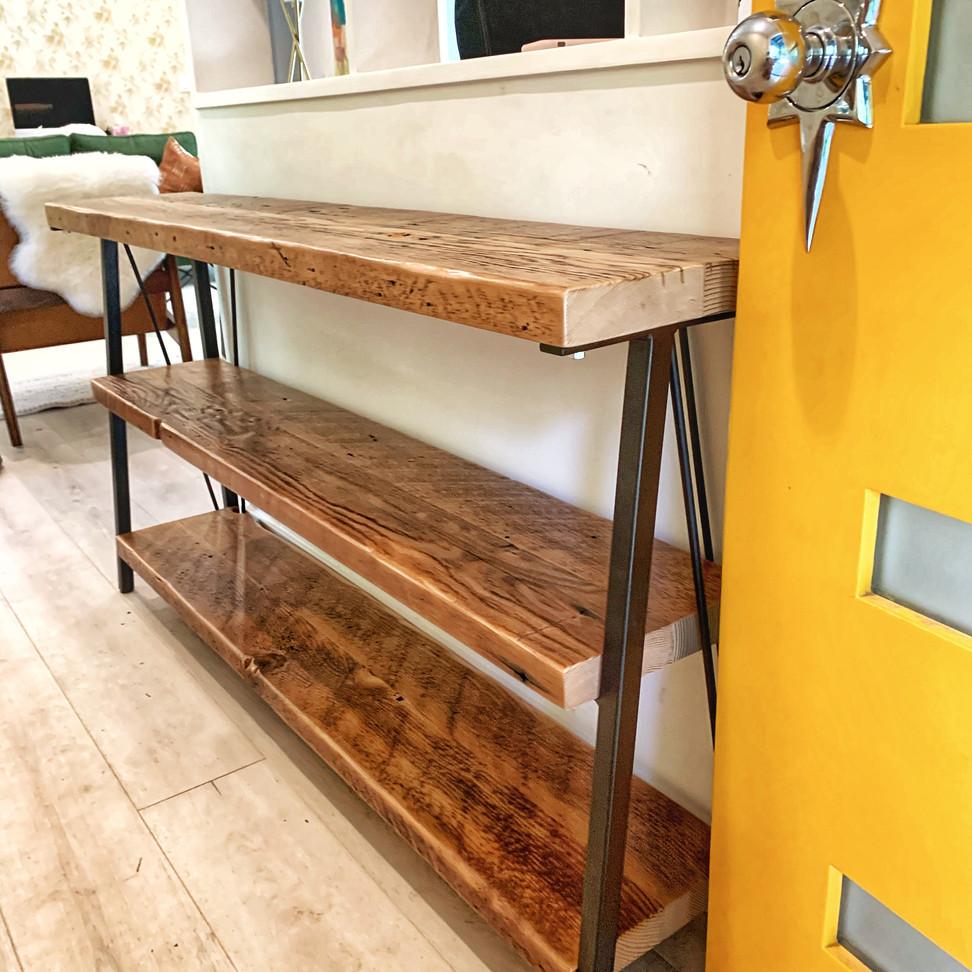 narrow entry way table