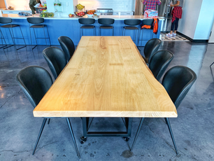 large live edge custom dining table
