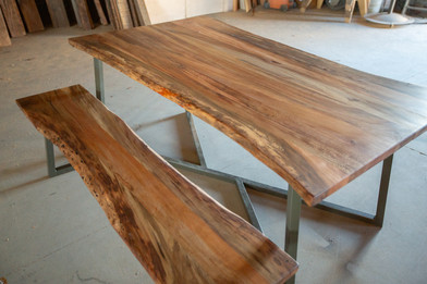 live edge dining table made in los angeles