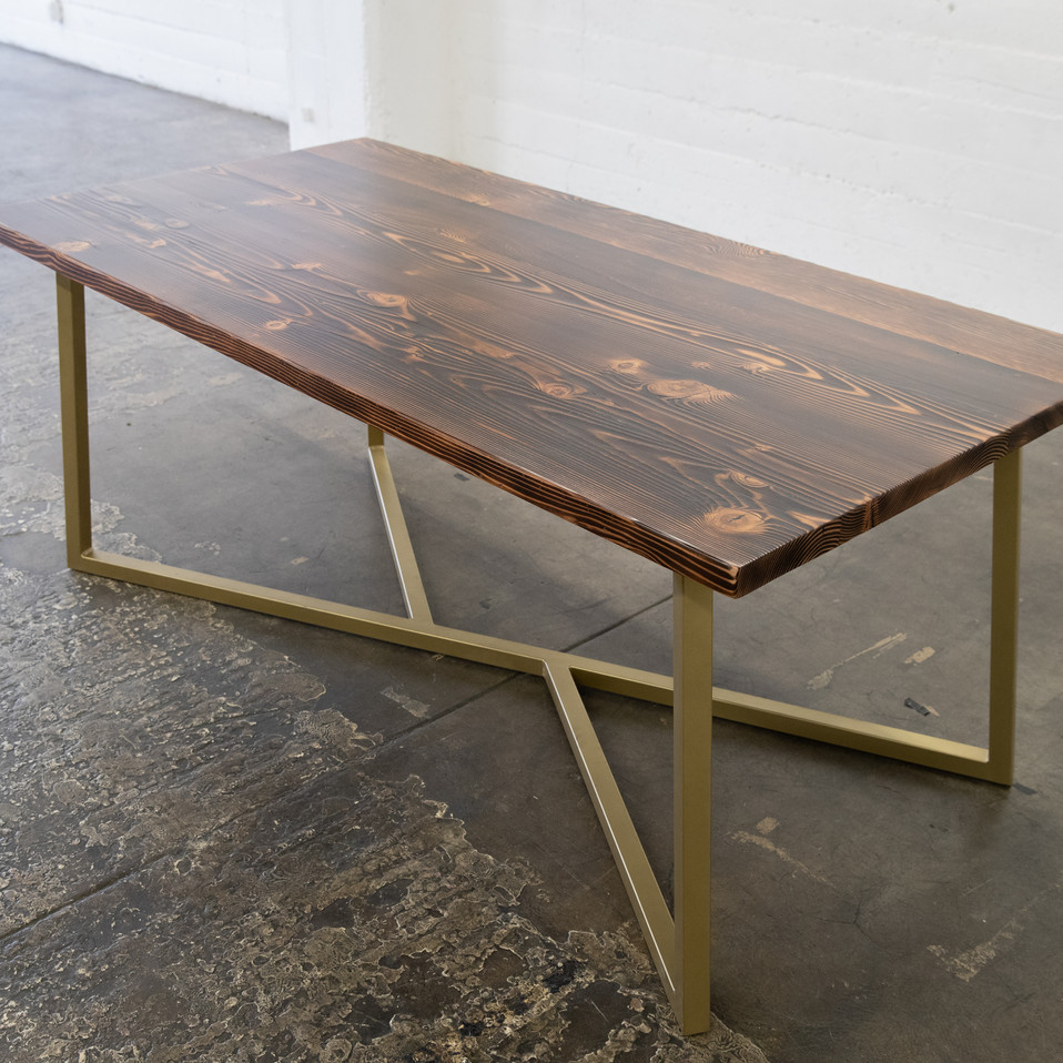 reclaimed wood modern dining table