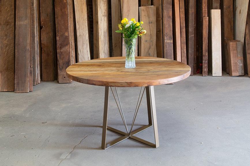 hardwood pedestal kitchen table venice beach