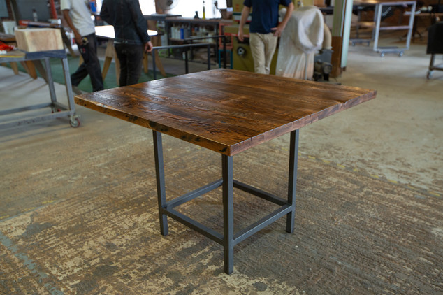 hand made pub table