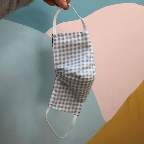 Face mask - grey gingham