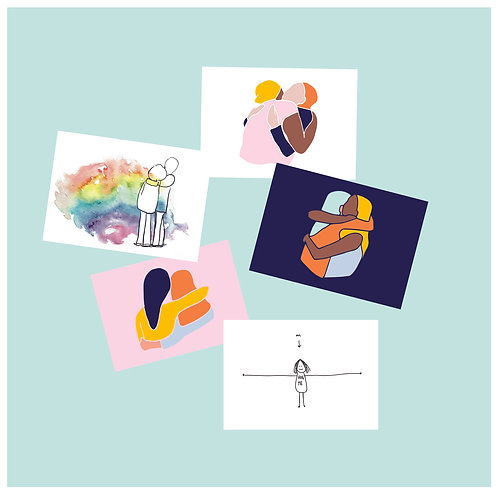 Hug greeting card bundle