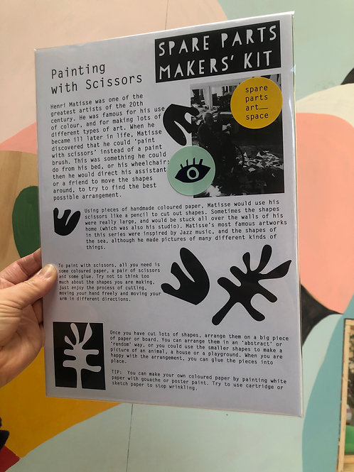'Painting with scissors' collage kit