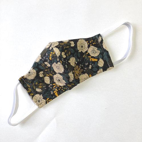 Face mask - black floral