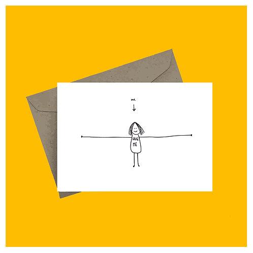 'Hug me' greeting card