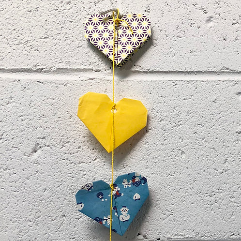 Origami heart bunting kit
