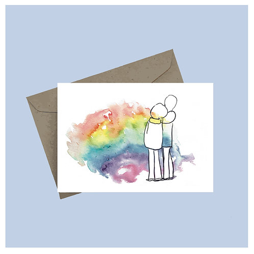 'Rainbow hug' greeting card