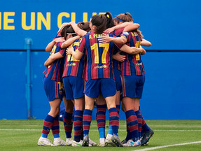 Barcelona  Femení Flying The Flag For Women's Football In Spain